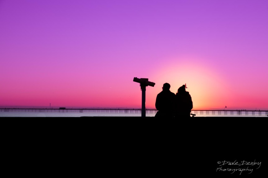 Couple on Sea Wall